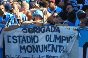Na despedida do Olímpico, o espetáculo foi fora de campo - Foto: Lucas Uebel