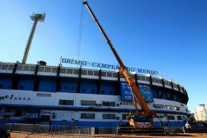 Letreiro será restaurado e instalado na Arena do Grêmio